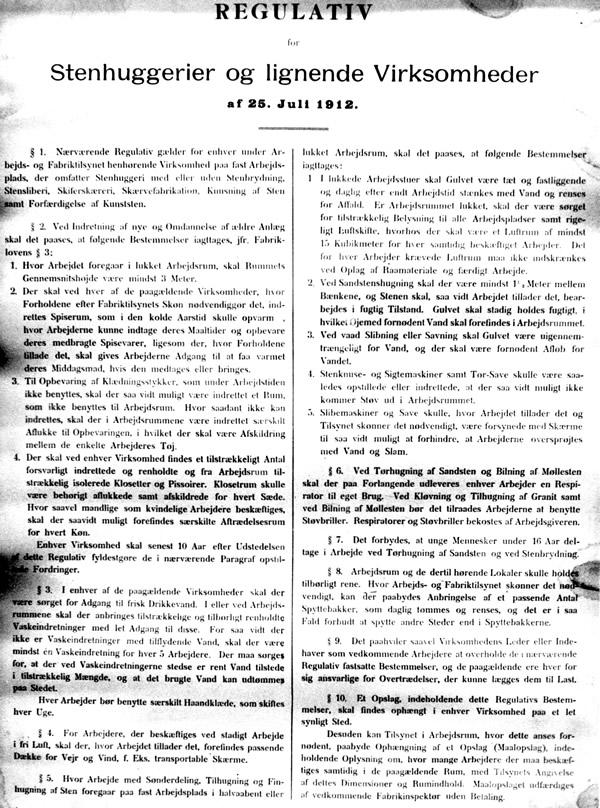 Regulativ af 25 Juli 1912