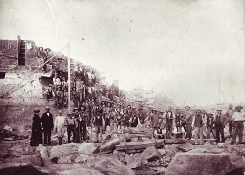 Stenarbejdere i Allinge 1902
