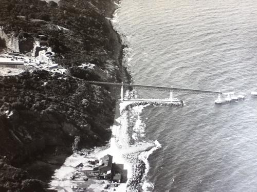 Transportbånd og udskibningsanlæg i Vang