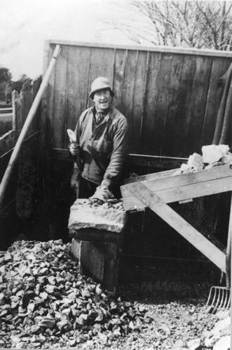 Skærveslagning under 2. Verdenskrig
